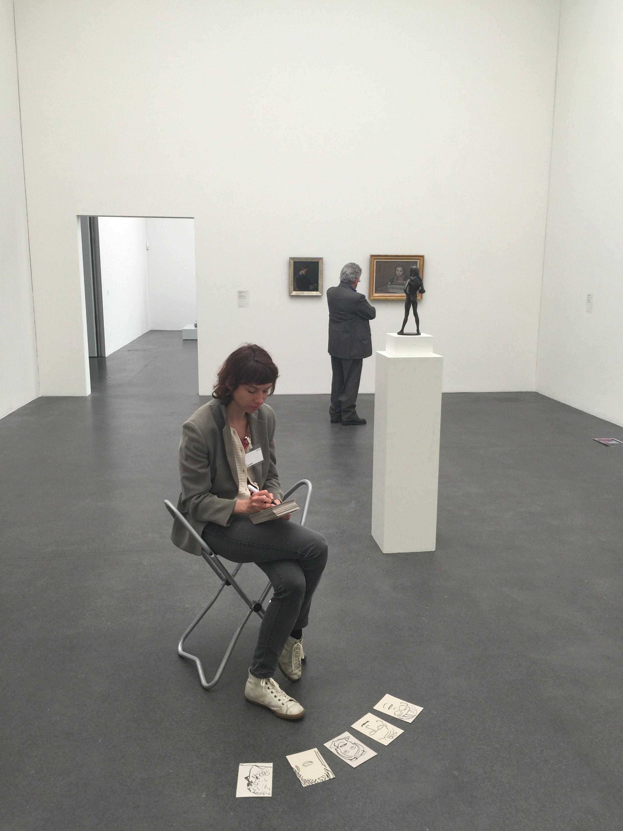 Blitzportraits von Besucherinnen und Besuchern