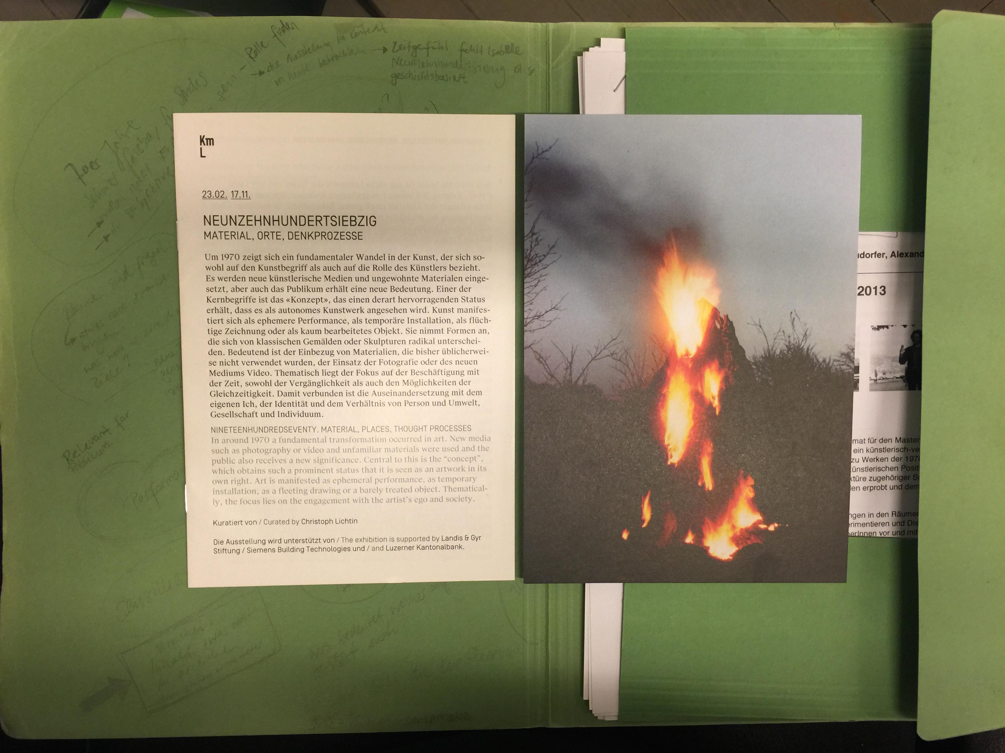 Saalblatt und Notizen
