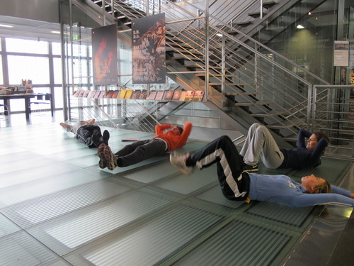 Public Workout im Museumsfoyer
